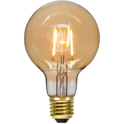 LED lemputė girliandai G80 PLAIN AMBER, 0.75W / 2000K / E27
