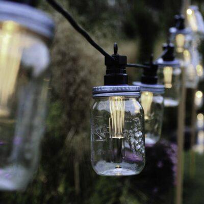 3m sujungiama lempučių girlianda MASON JAR