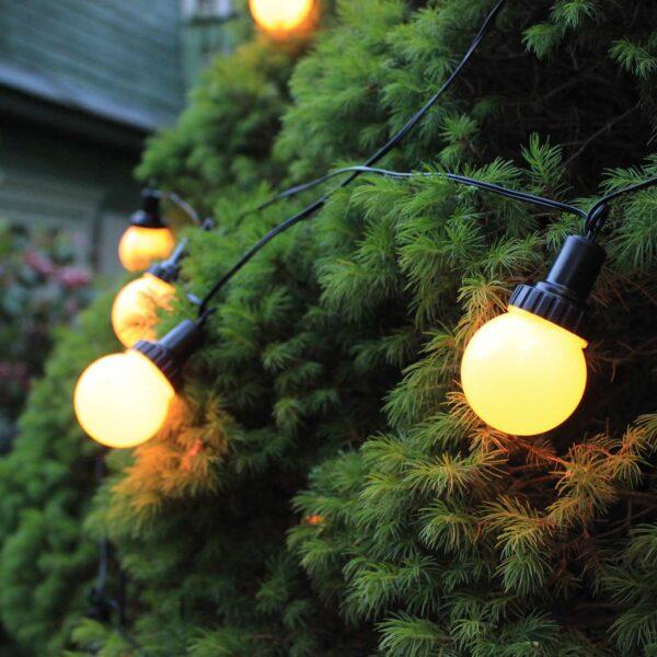 4.4m lempučių girlianda su saulės baterija LIGHT BALL SOLAR