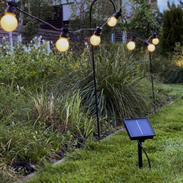 3m lempučių girlianda su saulės baterijomis G45 PARTY LIGHTS