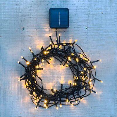 7.5m lempučių girlianda su saulės baterijomis GARDEN LIGHTS Saulės baterijos