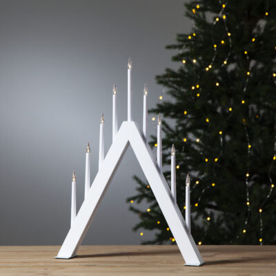 Kalėdinė langinės dekoracija JAZZ WHITE