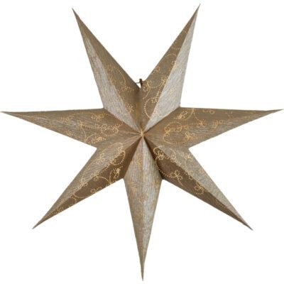 Popierinė žvaigždė DECORUS GOLD 63CM
