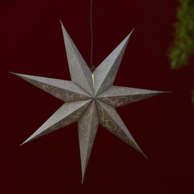 Popierinė žvaigždė DECORUS SILVER 63CM