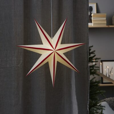 Popierinė žvaigždė RANDI RED 75CM