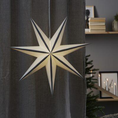 Popierinė žvaigždė RANDI GREY 75CM