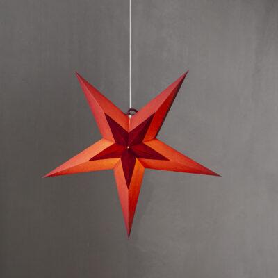Popierinė žvaigždė DIVA RED 60CM